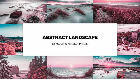 20 Abstract Landscapes LUTs and Lightroom Presets