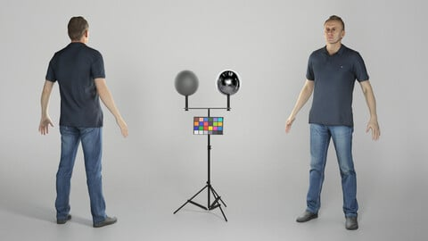 Man in casual style ready for animation 312