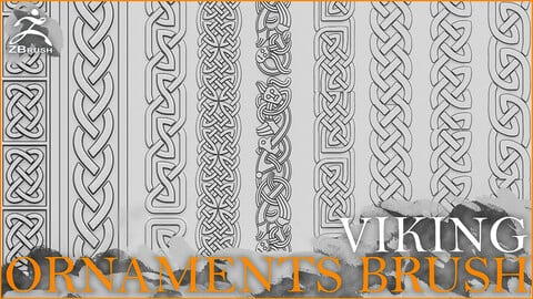 Viking Ornaments Brush for ZBrush
