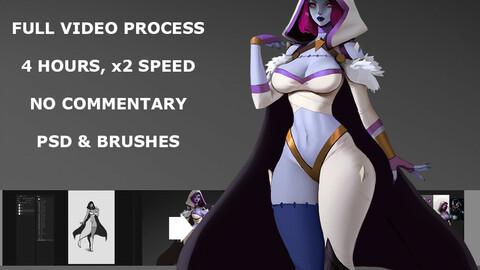 Zephirel full video process, 4 hours, x2 speed