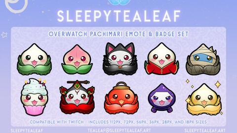 Overwatch Pachimari Emotes & Badges
