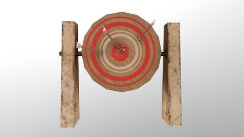 Low Poly Target Board 3D Model
