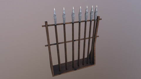 Low Poly Spears 3D Model free