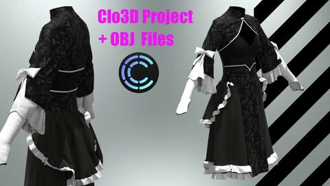 Princess from other World ( Clo3D,Marvelous Desinger project+OBJ)
