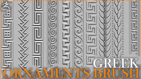 Greek Ornaments Brush for ZBrush
