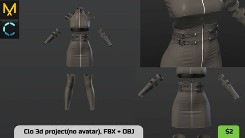 Grey sexy outfit for women