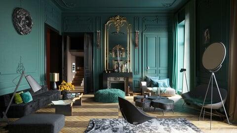 Parisian interior scene