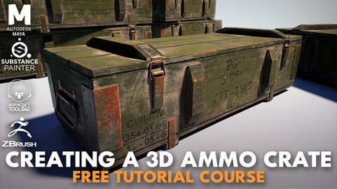 Creating a 3D Ammo Crate Game Asset - Free Tutorial