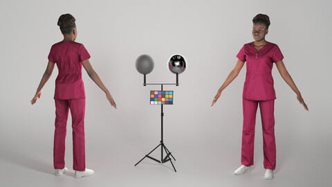 Young african nurse ready for animation 289