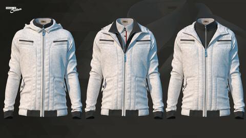 The Jacket 04 - 71 Marvelous Designer and Clo3D + OBJ + FBX