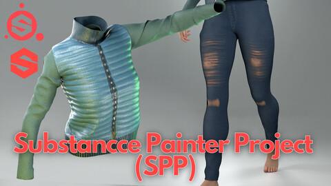 Substance Painter (.SPP) : Down vest & jeans