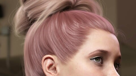 Texture Expansion for Top Updo Hair