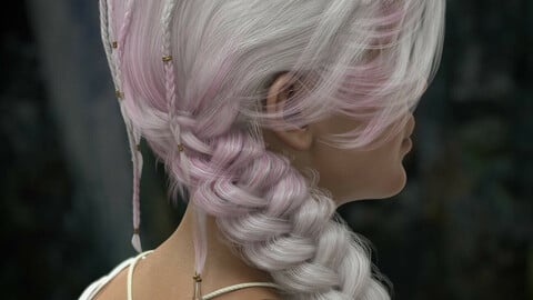 Sylveren Hair for Genesis 3 and Genesis 8 and 8.1 Females
