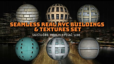 Seamless Real NYC Buildings & Textures