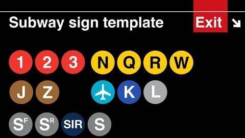 Templates for the NYC Subway & Street Signs