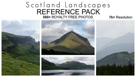 Reference Pack - Scotland Landscapes - 500+ Royalty Free Photos