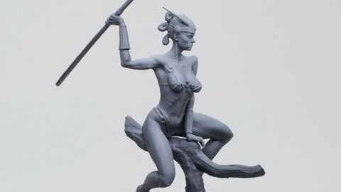 Amazonian Girl  STL for 3d printing .