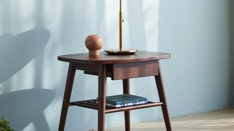 Granada wooden bedside table