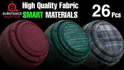 🌟26 Reality Fabric Smart Material Pack  for Substance Painter🌟