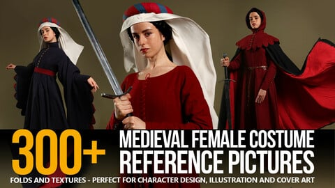 300+ Medieval Female Costume Reference Pictures