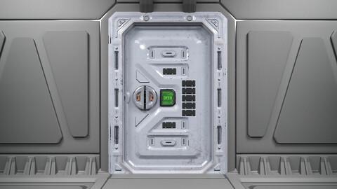 Sci-Fi Sliding Door Low-Poly