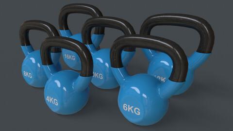 PBR 4-16KG Kettlebell V1 - Blue Light
