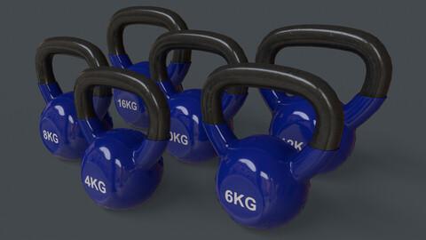 PBR 4-16KG Kettlebell V1 - Blue