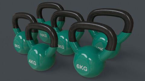 PBR 4-16KG Kettlebell V1 - Green