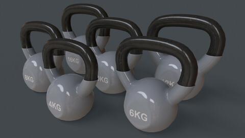 PBR 4-16KG Kettlebell V1 - Grey