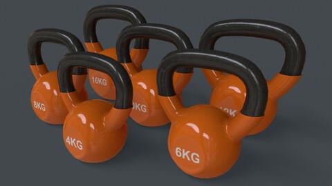 PBR 4-16KG Kettlebell V1 - Orange