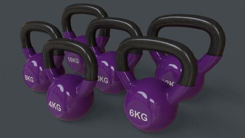 PBR 4-16KG Kettlebell V1 - Purple