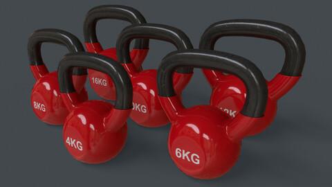 PBR 4-16KG Kettlebell V1 - Red