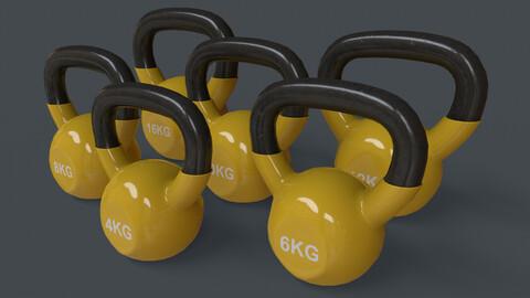 PBR 4-16KG Kettlebell V1 - Yellow