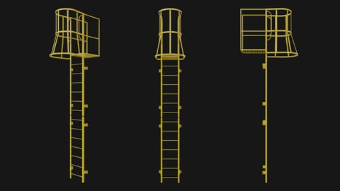Fire escape stair Yellow