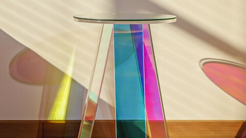Hologram side table side table Dia35