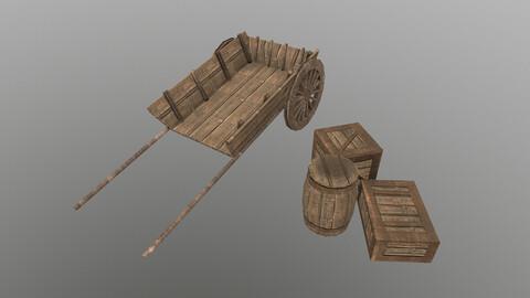 Medieval Cart 3 3D Model