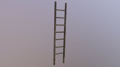 Wooden Stairs 2 3D Model free