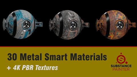 """ 30 Metal Smart Materials + 4K PBR texture """