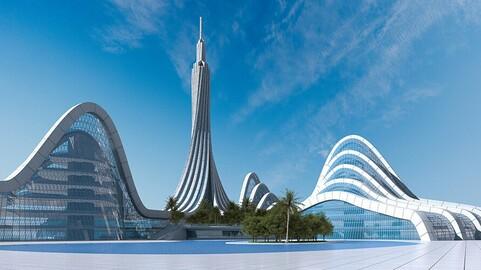 Futuristic City 12. Organic Architecture