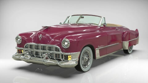 CADILLAC 1949 SERIE 62 convertible Low-poly 3D model