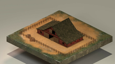 Barn Level 10 3D Model