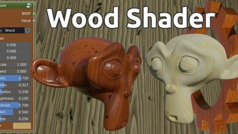 Wood shader for Blender