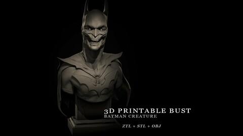 Batman Creature Bust - 3D Printable Sculpture