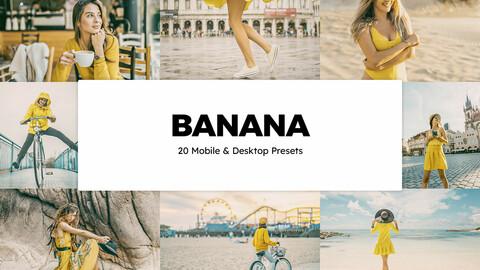 20 Banana LUTs and Lightroom Presets