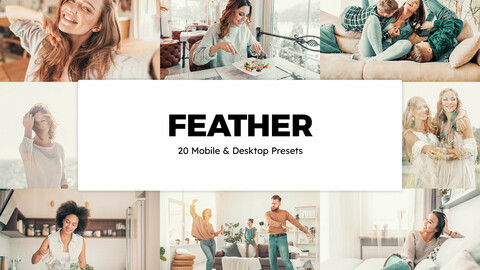 20 Feather LUTs and Lightroom Presets