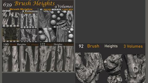 Z brush - Trunk Detail Brushes 11  Volumes