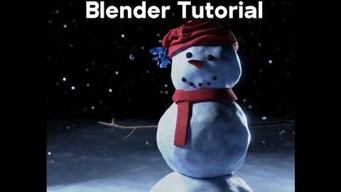 Winter Snowman Scene (Blender Tutorial)