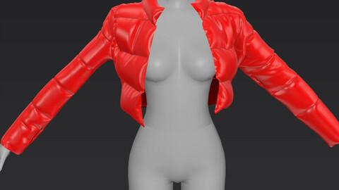 Red Puffer Coat OBJ