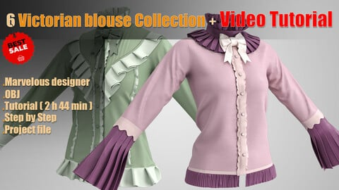6 Victorian blouse Collection + Video Tutorial