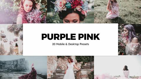 20 Purple Pink LUTs and Lightroom Presets